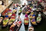 Thailand, Ratchaburi, Damnoen Saduak, floating market