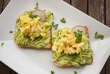 ^ Breakfast toast, avacado, eggs, radishes
