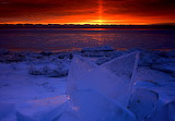 ☺ Chunks of ice at sunset...