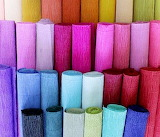 Colorful Crepe Paper Rolls