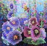 hollyhocks, Charlotte Hickman