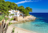 Beautiful beach cove and sea front villa