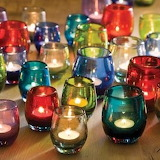 colored glass votive