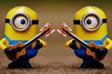 Minions play guitar