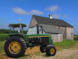 John Deer 4430 Tractor and old barn