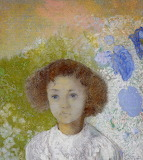 Odilon Redon, Portrait de Geneviève de Gonet enfant,1907