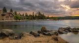 Sunset Payette Lake Idaho