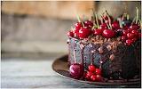 Cherry, chocolate cake