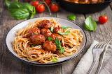 Spaghetti con polpettine di carne