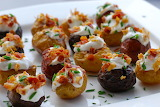 ^ Baked mini potato appetizers