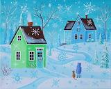 #Counting Snowflakes Folk Art by Kim