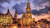 #Dresden Germany Katholische Hofkirche with Castle Dresden