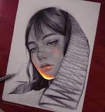 Enrique Bernal florescent drawings
