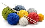 ^ Yarn and needles
