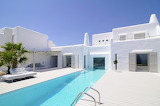 Modern Greek luxury villa and pool