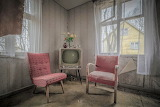 Pink chairs 1960s Television