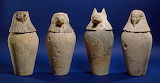 Ancient Egyptian Canopic Jars, c. 380–343 BC