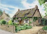 ^ Thatched cottage ~ Edward J Clark