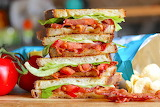 ^ BLT grilled cheese sandwich
