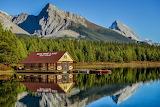 By Maligne Lake, Alberta, Canada
