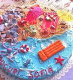 Beach lover's cake