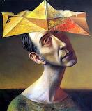Yellow Paper Hat-Rudolf Hausner