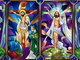 stained glass-Jesus-my-lord-christ-risen-religion-god