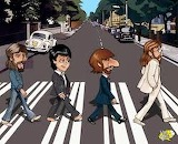 The Beatles on the road