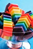 #Rainbow Layered Jello