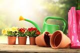 POTW - Gardening, tools, boots, flowers, watering can, pots