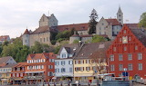 Castle and town of Meersburg, from Lake Constance