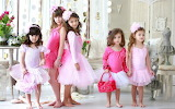 Girls, children, child, balerinas, room, flowers, sweet, beautif