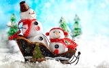 snowman, sleigh