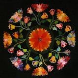 Oriental poppies quilt