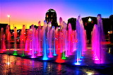#Colorful Evening Fountain