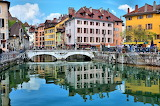 France-Annecy-Pont-Perriere-Over-Thiou-Canal FRANCE