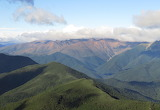 View of the Red Hills from Mt Rintoul