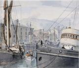 Custom House Quay Dover by Randolph Schwabe