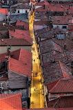 Rooftops dusk Koper Slovenia