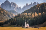 @ Tiny chapel in the Dolomites