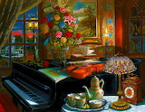 ☺♥ Piano room...