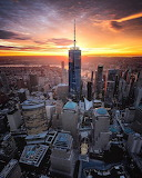 Sunset over One World Trade Center, NYC