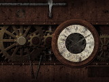 abstract-clock-time-wheel-gears-vintage-old-dark