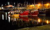 Fishing Boats in Arbroath Harbour at night