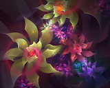3D-abstract-flowers