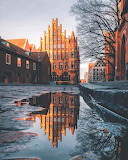 Church Lübeck Germany after rain