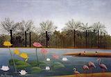 Henri Rousseau - The Flamingoes