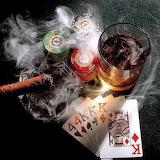 poker whisky cigar