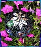 Mosaic gazing ball