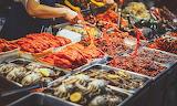 South Korea, Seoul, Gwangjang market, street food